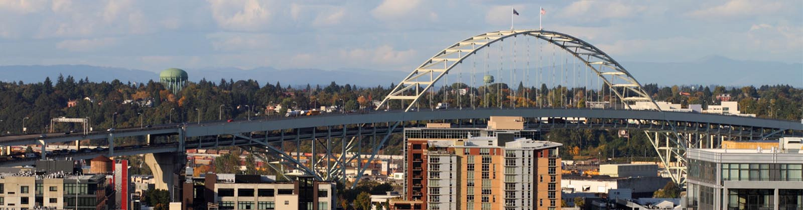 Portland Fremont bridge and downtown