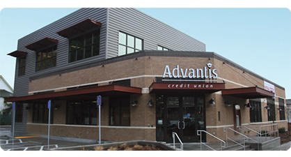Exterior shot of Advantis Belmont Branch.